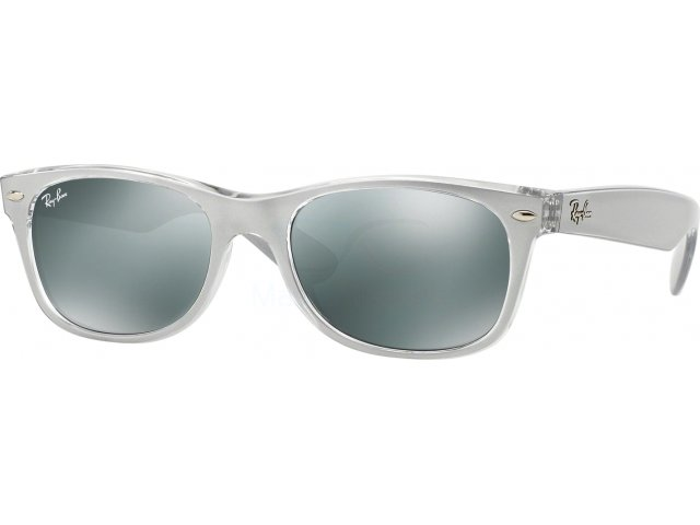 Ray-Ban New Wayfarer RB2132 614440 Top Brushed Silver On Transp