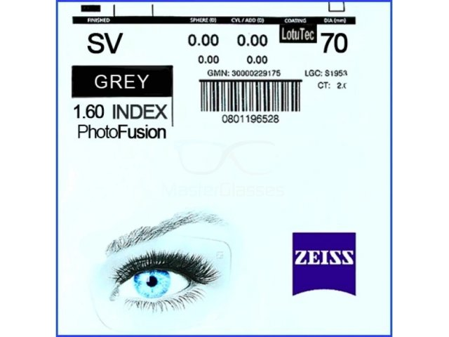 Zeiss Single Vision 1.6 PhotoFusion LotuTec Brown/Grey РЕЦЕПТУРНАЯ ЛИНЗА