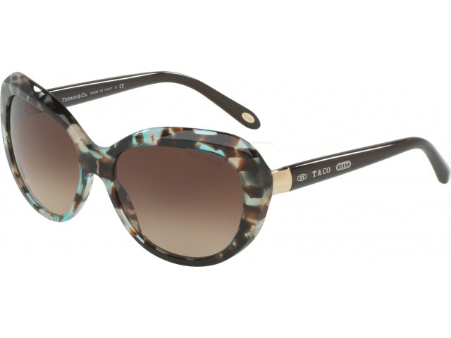Tiffany TF4122 82153B Brown Havana Spotted Opal Blue