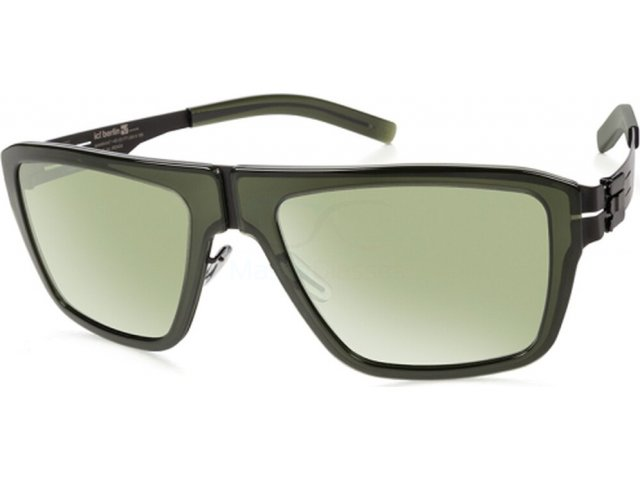 Ic! Berlin M13 Bjoernsonstrasse Black-Broken-Bottle Moss Green Mirrored Acetat