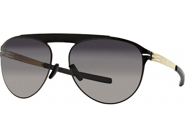 Ic! Berlin Meike B. Black Matt-Gold Black to Grey Polarized Flex