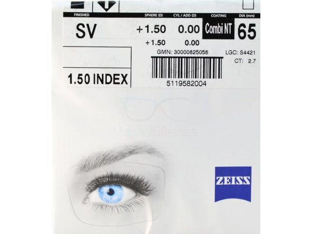 Zeiss Single Vision 1.5 NT (Combi NT) UV