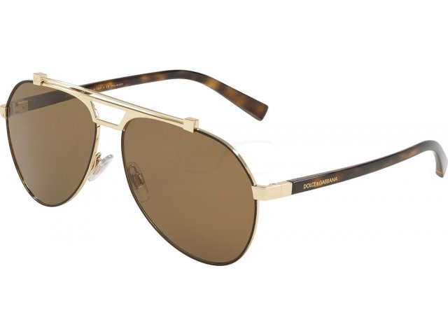 Dolce & gabbana DG2189 132083 Matte Brown/pale Gold