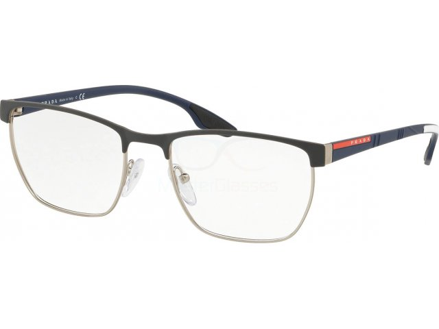 Оправа Prada linea rossa Lifestyle PS 50LV TFZ1O1 Grey Rubber/silver Rubber