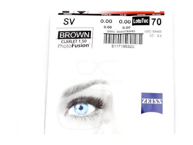 Zeiss Single Vision 1.5 PhotoFusion Brown/Grey