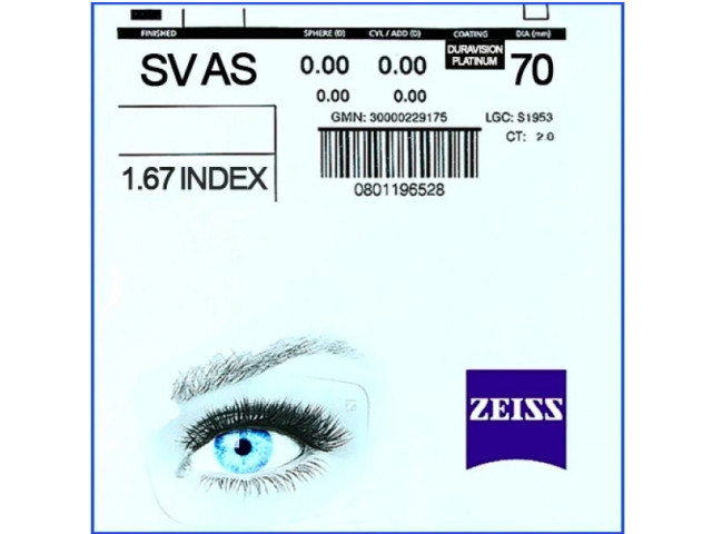 Zeiss Single Vision AS 1.67