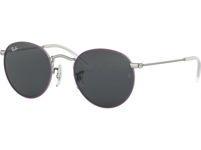 Ray-Ban Junior Round RJ9547S 279/87 Top Rubber Violet On Silver