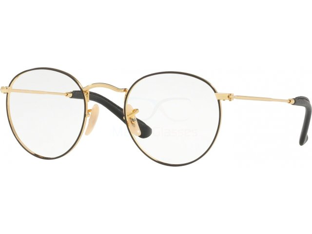 Оправа Ray-Ban Round Metal RX3447V 2946 Gold On Top Black