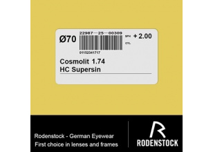 Rodenstock Cosmolit 1.74 AS HC Supersin